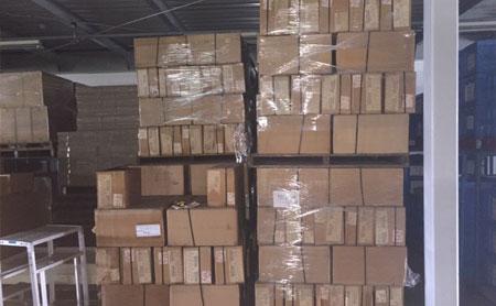 倉庫内の廃棄物処理